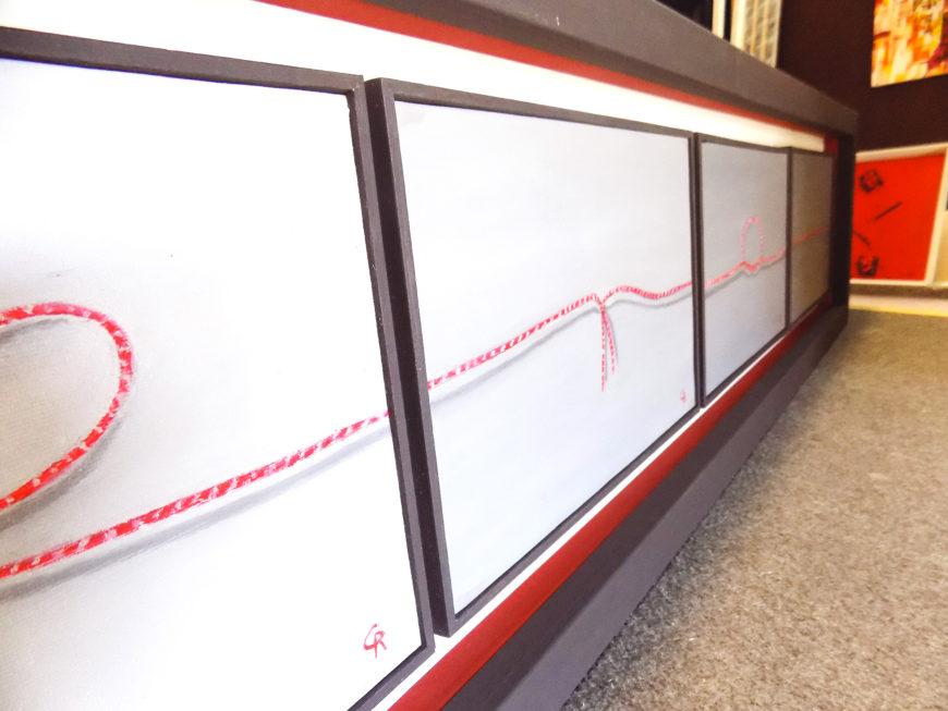 Top Il filo rosso di Rosario Costanzo, una metafora olio su tela da  XH52