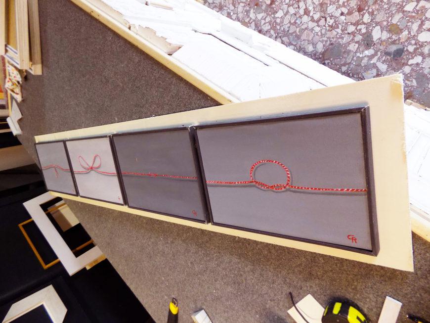 Favorito Il filo rosso di Rosario Costanzo, una metafora olio su tela da  HS09