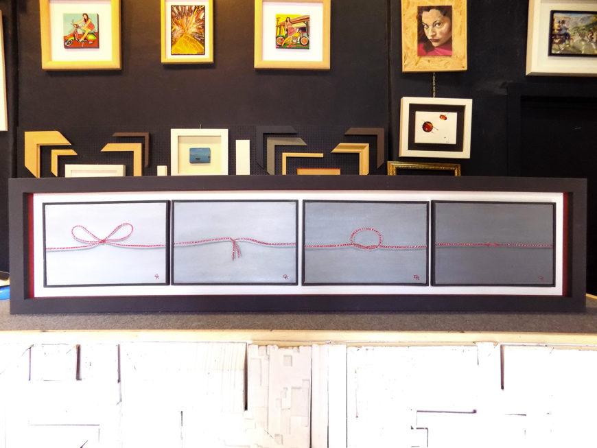 Preferenza Il filo rosso di Rosario Costanzo, una metafora olio su tela da  WH76