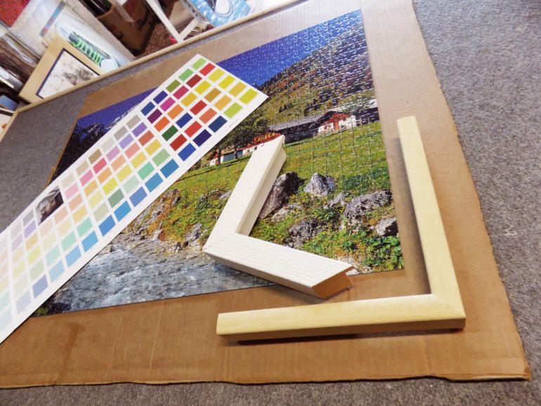 bd7dc128e9 Un puzzle da 1000 pezzi in una cornice colorata a mano - Fatti d ...